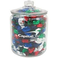144100090-153 - Half Gallon Glass Jar - Foil Wrapped Hard Candy - thumbnail