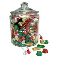 174096150-153 - Hershey's Holiday Mix in Gallon Glass Jar - thumbnail