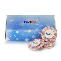 176185050-153 - Custom Sugar Cookie w/ Corporate Color Sprinkles in Mailer Box (12) - thumbnail