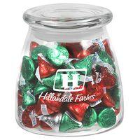 315182861-153 - Vibe Glass Jar - Hershey's® Holiday Kisses (27 Oz.) - thumbnail