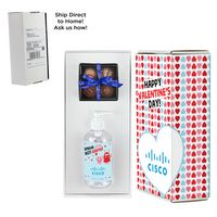 346452343-153 - Valentine's Day 8 oz. Sanitizer & 4 Piece Belgian Chocolate Truffle Box in Mailer Box - (Option 1) - thumbnail