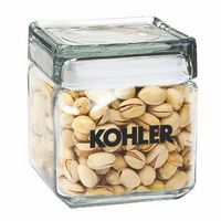 354093445-153 - Square Glass Jar - Pistachios (32 Oz.) - thumbnail