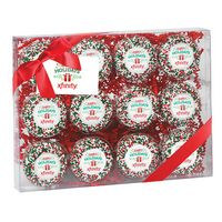 375179317-153 - Elegant Chocolate Covered Printed Oreo® Gift Box - Holiday Sprinkles/Printed Cookies (12 pack) - thumbnail