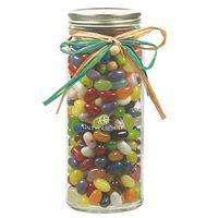 385546870-153 - 16 Oz. Contemporary Glass Mason Jar w/ Raffia Bow (Jelly Belly® Jelly Beans) - thumbnail