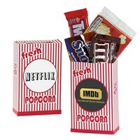 502530179-153 - Striped Movie Snack Box w/ Assorted Candies - thumbnail
