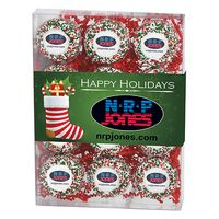 505179320-153 - Chocolate Covered Printed Oreo® Gift Box - Holiday Nonpareil Sprinkles/Printed Cookie (12 pack) - thumbnail