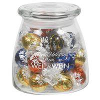 515182864-153 - Vibe Glass Jar - Lindt® Truffles (27 Oz.) - thumbnail