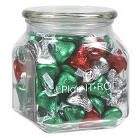 535182903-153 - Contemporary Glass Jar - Hershey's® Holiday Kisses® (20 Oz.) - thumbnail