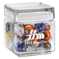 554099285-153 - Square Glass Jar - Lindt® Truffles (32 Oz.) - thumbnail
