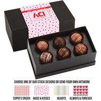 565549308-153 - Valentine's Day 6 Piece Decadent Truffle Box - Assortment 3 - thumbnail