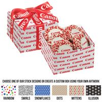 585311549-153 - Gala Gift Box w/ 5 Chocolate Covered Custom Oreo® Cookies w/ Corporate Color Nonpareils (Large) - thumbnail