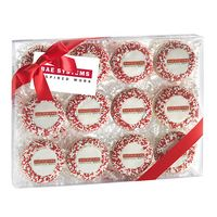 715048311-153 - Elegant Chocolate Covered Printed Oreo® Gift Box - Nonpareil Sprinkles/Printed Cookies (12 Pack) - thumbnail