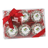 745179308-153 - Elegant Chocolate Covered Printed Oreo® Gift Box - Holiday Nonpareil Sprinkles (6 pack) - thumbnail