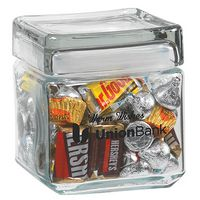 754099283-153 - Square Glass Jar - Hershey's® Everyday Mix (32 Oz.) - thumbnail