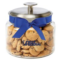 773491769-153 - Glass Cookie Jar - Mini Chocolate Chip Cookies (48 Oz.) - thumbnail