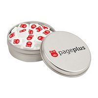 794091446-153 - Small Round Tin - Imprinted Sugar Free Peppermints - thumbnail