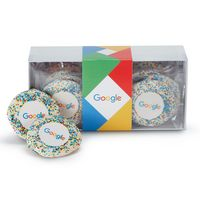 916185032-153 - Custom Sugar Cookie w/ Corporate Color Sprinkles in Gift Box (12) - thumbnail