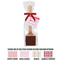 935549399-153 - Heavenly Hot Chocolate on a Spoon in Favor Bag - Milk Chocolate - thumbnail
