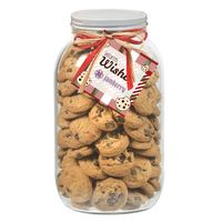 945182979-153 - 64 Oz. Glass Mason Cookie Jar (Mini Chocolate Chip Cookies) - thumbnail