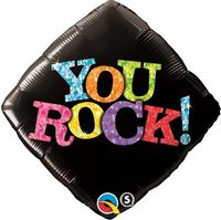 "595909278-157 - 18"" Diamond Stock Microfoil Balloon-YOU ROCK - thumbnail"