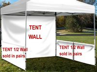 963704434-157 - Event Tent Half Wall Pair (Full Bleed) with Railing Hardware - thumbnail