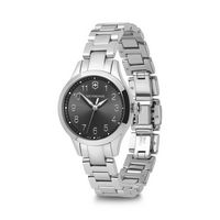 396226376-174 - Small Black Dial Stainless Steel Bracelet Watch - thumbnail