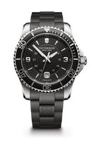 574298913-174 - Maverick Large Black Dial/Black Rubber Strap Watch - thumbnail