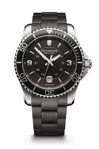 574298913-174 - Maverick Black Dial Black Rubber Strap Watch - thumbnail