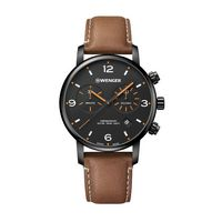 706226342-174 - Urban Metropolitan Chrono Black Dial Leather Strap Watch - thumbnail