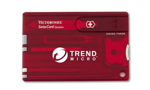 722627935-174 - Swisscard® Ruby Red Quattro Multi-Tool Translucent - thumbnail