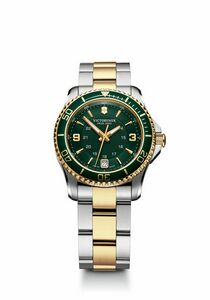 904298924-174 - Maverick Small Green/Gold Dial/Two-Tone Bracelet Watch - thumbnail