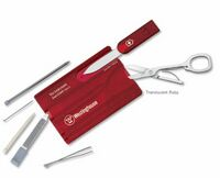 931799878-174 - Swisscard® Multi-Tool Translucent (Ruby Red) - thumbnail