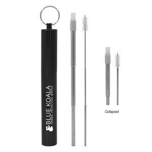 106106454-816 - Telescopic Stainless Steel Straw Kit - thumbnail