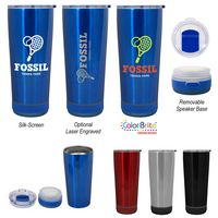 106113483-816 - 18 Oz. Cadence Stainless Steel Tumbler With Speaker - thumbnail