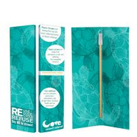 106126858-816 - Zagabook With Park Avenue Stainless Steel Straw - thumbnail