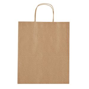 "115760429-816 - Kraft Paper Brown Shopping Bag - 13"" x 17"" - thumbnail"