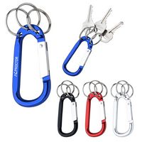 135459207-816 - 8mm Carabiner With Triple Split Ring - thumbnail