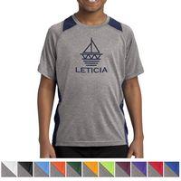 145438581-816 - Sport-Tek® Youth Heather Colorblock Contender™ Tee - thumbnail