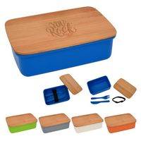 146322155-816 - Wheat Lunch Set With Bamboo Lid - thumbnail