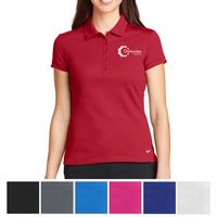 165551480-816 - Nike Ladies Dri-FIT Solid Icon Pique Modern Fit Polo - thumbnail