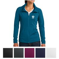 185443119-816 - Sport-Tek® Ladies' Sport-Wick® Stretch Full-Zip Jacket - thumbnail