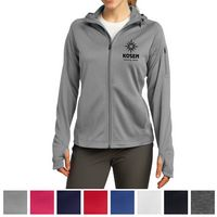 185703381-816 - Sport-Tek® Ladies Tech Fleece Full-Zip Hooded Jacket - thumbnail