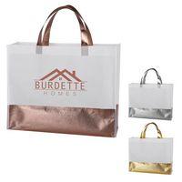 326030469-816 - Flair Metallic Accent Non-Woven Tote Bag - thumbnail