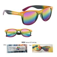 336050036-816 - Metallic Rainbow Malibu Sunglasses - thumbnail
