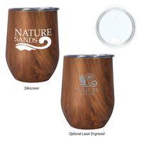 356044938-816 - 12 Oz. Woodgrain Alexander Stemless Wine Cup - thumbnail