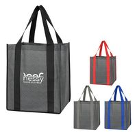 356353917-816 - Heathered Non-Woven Shopper Tote Bag - thumbnail