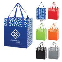 375489980-816 - Geometric Non-Woven Shopping Tote Bag - thumbnail
