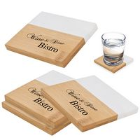 386084043-816 - Marble And Bamboo Coaster Set - thumbnail