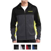 395437242-816 - Sport-Tek® Tech Fleece Colorblock Full-Zip Hooded Jacket - thumbnail