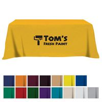 505161004-816 - Flat Poly/Cotton 3-sided Table Cover - fits 8' standard table - thumbnail